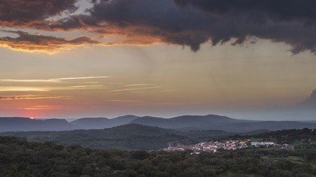 extremadura: Extremadura sunset Stock Photo
