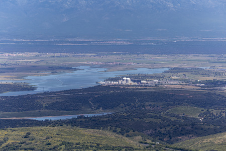 extremadura: panoramic view of the region of Extremadura in Spain viñuelas