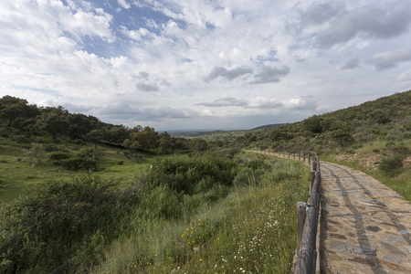extremadura: image of a valley in a village in Extremadura in Spain