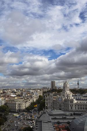 spells: sunny spells on the skyline of Madrid