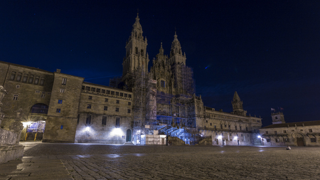 views of the cathedral of santiago de compostela Stock Photo