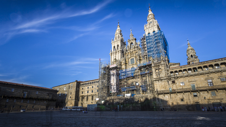 views of the cathedral of santiago de compostela Editorial