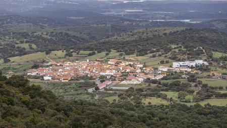 Panoramic view of Extremadura dehesa