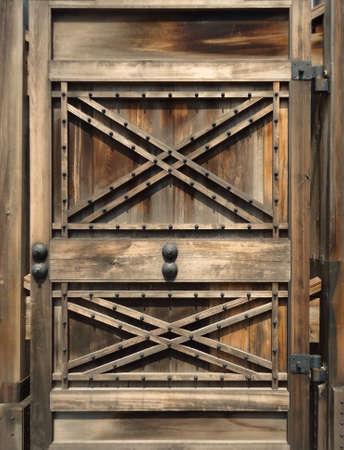 the door of Japan castle in Japan Stock Photo