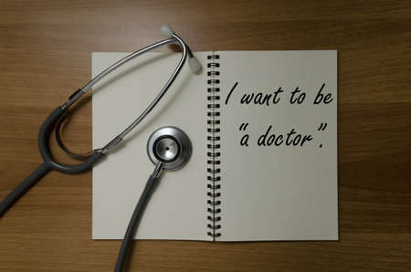I want to be a doctor. Stock Photo