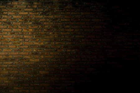 brick wall and shadow Stock Photo