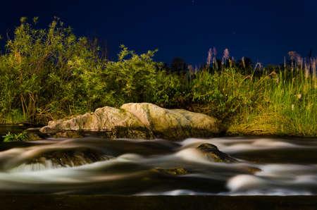 night water flow landscape