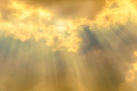 sky ray of heaven light Stock Photo