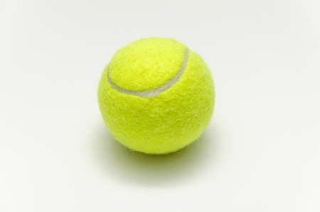 tennis ball isolated on white background Stock Photo