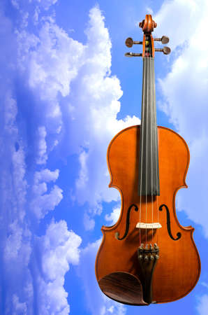 violin in the sky  Stock Photo