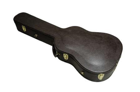 guitar case: estuche de guitarra aislado sobre fondo blanco