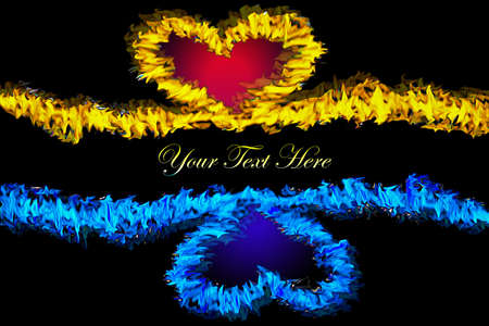 fire heart background photo