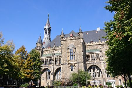 westfalen: Town Hall - Aachen, Germany Stock Photo