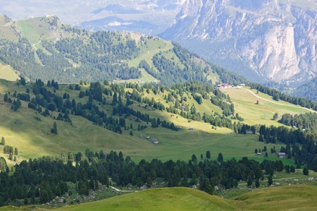 sella: View from Sella pass - Dolomites, Italy