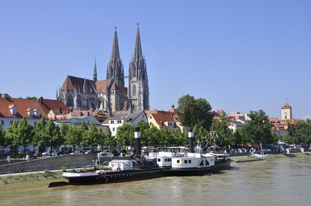 Stare miasto i Dunaju - Regensburg, Niemcy Zdjęcie Seryjne