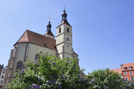 bayern old town: Neupfarrkirche - Regensburg, Germany