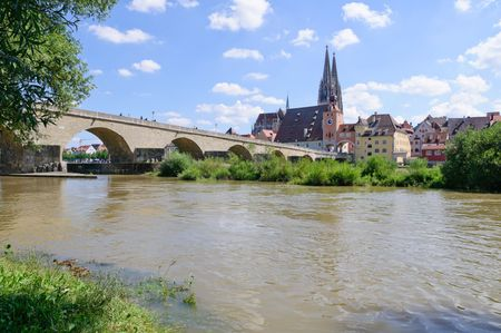 Old Town and the Danube - Regensburg, Germany photo