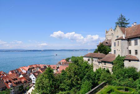 Meersburg und Bodensee, Deutschland