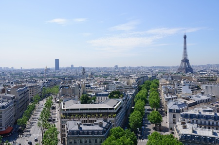 View from the Arc de Triomphe - Paris, France photo