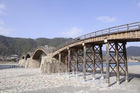 Kintaikyo-Brücke - Iwakuni, Yamaguchi, Japan Standard-Bild