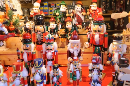Dziadek do orzechów - Christmas rynku w Niemczech Zdjęcie Seryjne