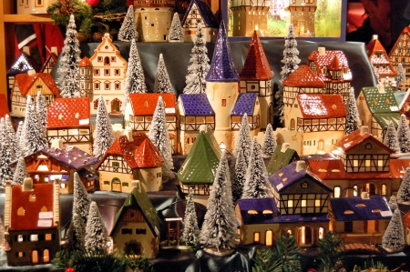 Christmas market in Germany 스톡 콘텐츠