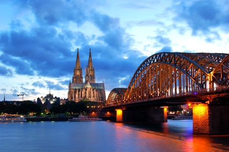 Cathedral and Hohenzollern Bridge -  CologneKöln, Germany photo