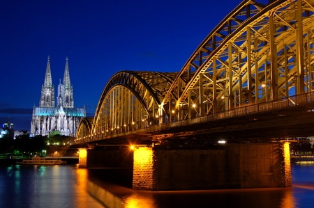 westfalen: Cathedral and Hohenzollern Bridge -  CologneKöln, Germany Stock Photo