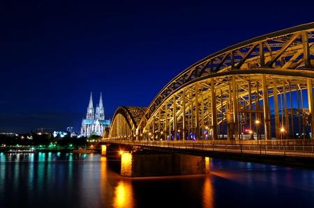 Cathedral and Hohenzollern Bridge -  CologneKöln, Germany Stock fotó
