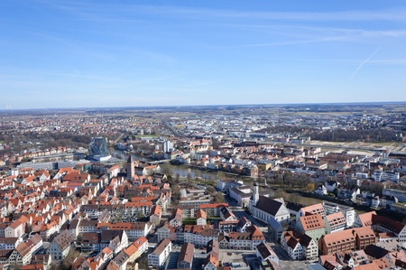 View from Ulm Minster, Germany photo