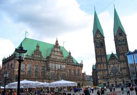 Rathaus und der Peter-Pauls-Kathedrale - Bremen, Deutschland Lizenzfreie Bilder - 9102164