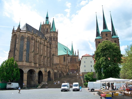 Mariendom and the Severikirche - Erfurt, Germany