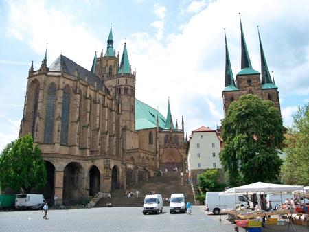 Mariendom and the Severikirche - Erfurt, Germany
