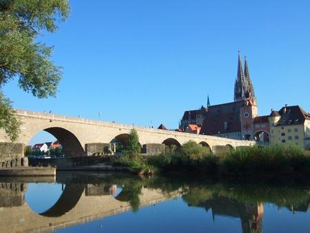 Old Town and the Danube - Regensburg, Germany  Standard-Bild