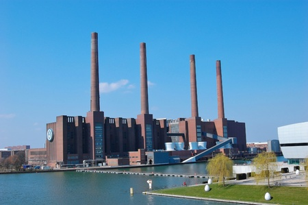 Mittelland Canal and Thermal Power Plant - Wolfsburg, Germany