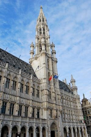 guild halls: Town Hall - Brussels, Belgium Stock Photo