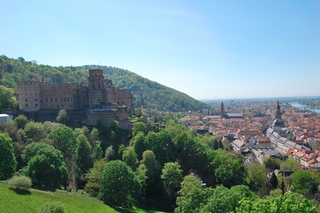 Heidelberg Castle and Old Town, Germany photo