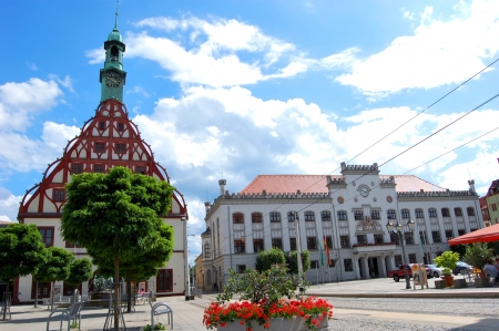 old town townhall: Central Square - Zwickau, Germany