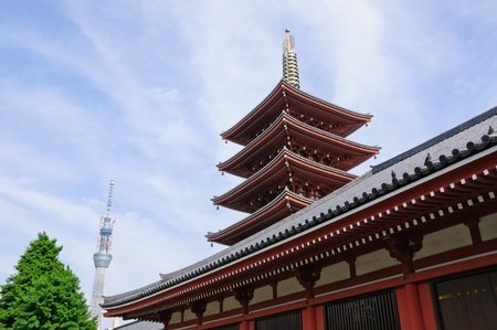 Senso-ji Temple and Sky tree - Asakusa, Tokyo