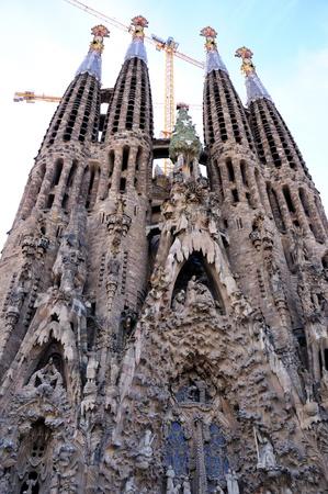 Sagrada Familia - Barcelona, Hiszpania Zdjęcie Seryjne
