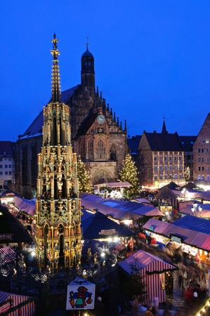 Christkindlesmarkt in Nürnberg/Nuremberg, Germany Stock Photo - 9743748
