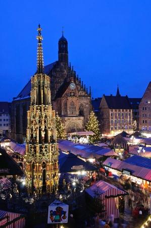 Christkindlesmarkt w NürnbergNürnberg, Niemcy