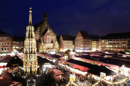 Christkindlesmarkt in Nürnberg/Nuremberg, Germany Stock Photo - 9743744