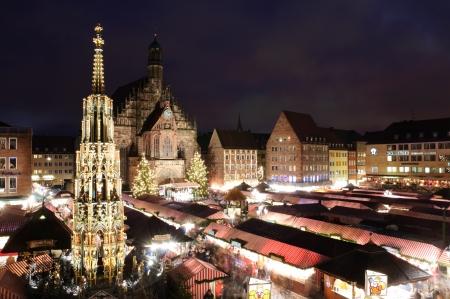 Christkindlesmarkt in NürnbergNürnberg, Deutschland