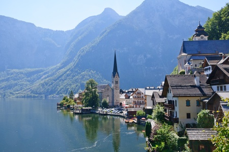 Hallstatt, Salzkammergut, Österreich