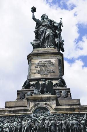 rudesheim: Niederwalddenkmal in Ruedesheim, Germany