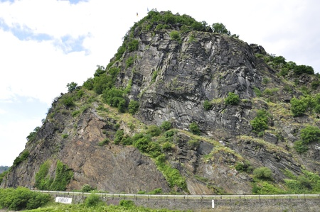 tourisms: Lorelei at Rhine Valley in Germany Stock Photo