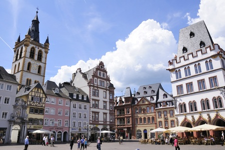 tourisms: Main Market Place in Trier, Germany