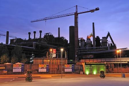 ironworks: Voelklingen Ironworks in Germany Editorial