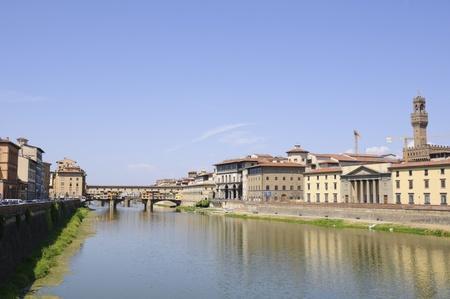 Arno River and Ponte Vecchio - Florence, Italy